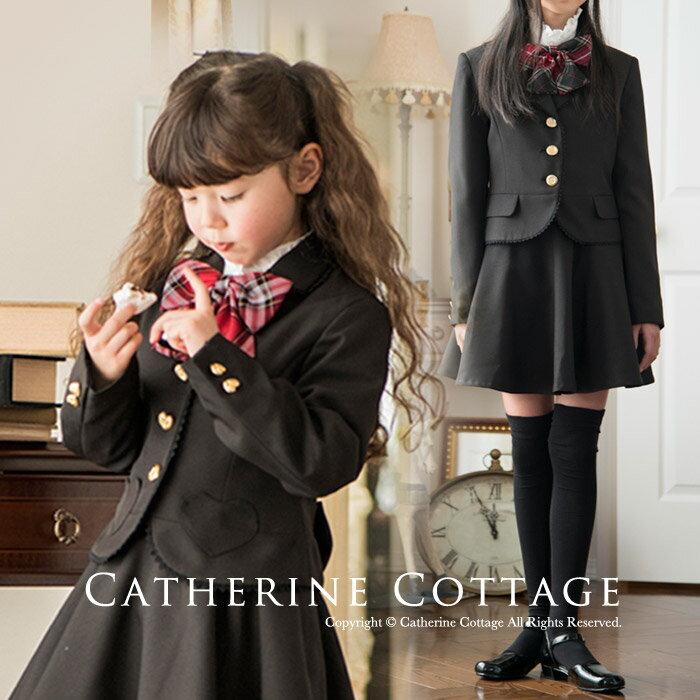 卒業式 スーツ 女の子 入学式 子供服 女の子用スーツ バックリボン刺繍スーツ[ジャケット…...:catherine:10003993