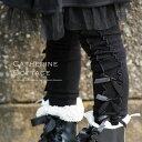 レギンス スパッツ YUP6 3つ並んだリボンがおしゃれなキッズ レギンス サテンリボン10分丈スパッツ XS S M[子供服(女の子)子ども ベビー 95 1...