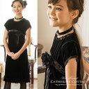 きれい系スパンコール黒ベロアワンピース 子供ドレス 子供服 キッズ フォーマル 結婚式 発表会 女の