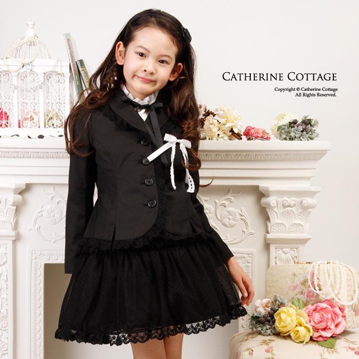 入学式 卒業式 女の子 スーツ チュールスカートスーツ[ 子供服 キッズ ジュニア 110…...:catherine:10003142