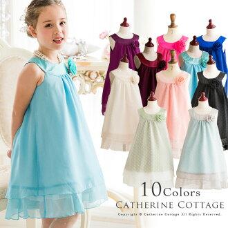 Curved neckline chiffon polka dot dress[fs01gm]
