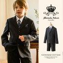 入学式 スーツ 男の子 シングル三つボタン スーツ 5点セッ...