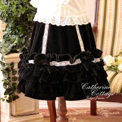 キッズジュニアトドラースカート黒