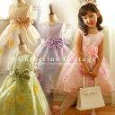 発表会 子供ドレス 女の子 フォーマル 子ども お姫様柄プリントのオーガンジープリンセスドレス [  ...