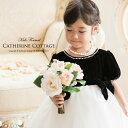 子供ドレス ピアノ 発表会 レンタルより安い結婚式・発表会ドレス♪子どもドレス 女の子 黒ベロアシフォンドレス