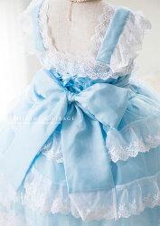 キッズレース&オーガンディーのロマンティックドレス