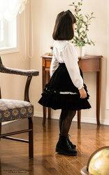 子供服フリルスカート黒