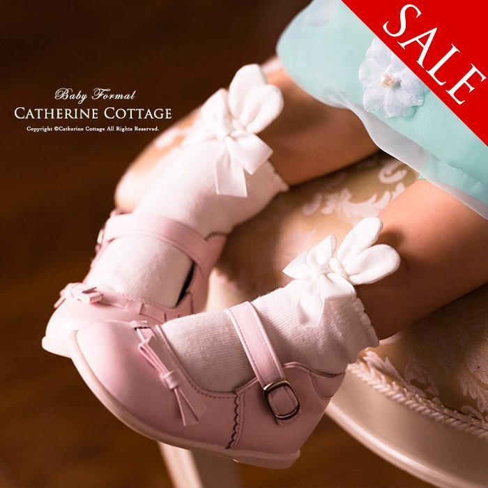 日本製ベビーソックス[女の子赤ちゃん靴下白結婚式お宮参りベビードレスと合わせてフォーマル子供服ベビー