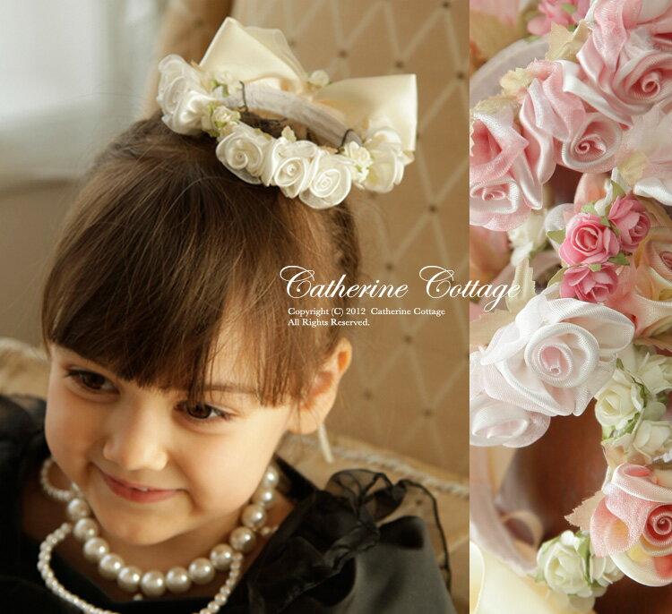 フラワーティアラ 結婚式 アクセサリー ミニフラワーティアラ 子供用 女の子 キッズ フォ…...:catherine:10003599