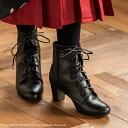 袴用 ブーツ レースアップブーツ 女の子 男の子 黒 卒園式 卒業式[子供靴 18 19 20 21