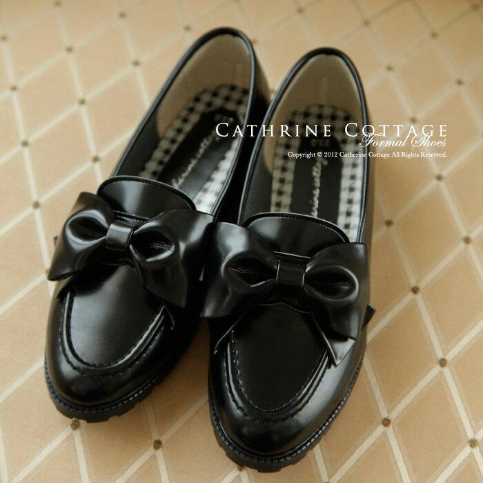 【日本製高級子供靴】リボンローファー[学生靴 子供靴 女の子 キッズ ジュニア フォーマル…...:catherine:10003605
