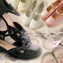 【アウトレット】 お花とラインストーンのシューズ 子供靴 アメリカから輸入 結婚式 七五三 フォーマル  ドレスやワンピースと合わせて♪
