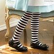 ハロウィン 仮装 子供靴下 ボーダーニーハイソックス[女の子 靴下 キッズ ボーダー カジュアル アリスに合わせて 子ども 黒 白 オーバーニーハイソックス ニーソ ニーハイ 衣装 コスプレ] YUP6