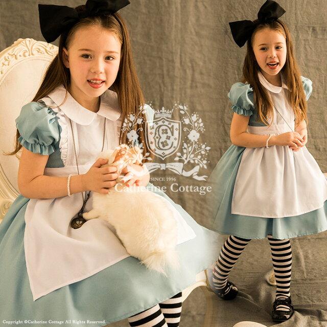 5ad00a1a62e29 ハロウィン 衣装 子供 アリス エプロンドレス 子供用 コスプレ 衣装 アリス コスチュームセット ワンピース