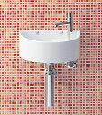 トイレ 手洗い器【AWL-33(S)-S】【床給水・床排水】INAX トイレ用【狭いスペースにもOK】狭小手洗タイプ(丸形) イナックス LIXIL・リクシル【手洗器と水栓金具・止水栓・排水金具・固定金具のセットです】【RCP】【セルフリノベーション】