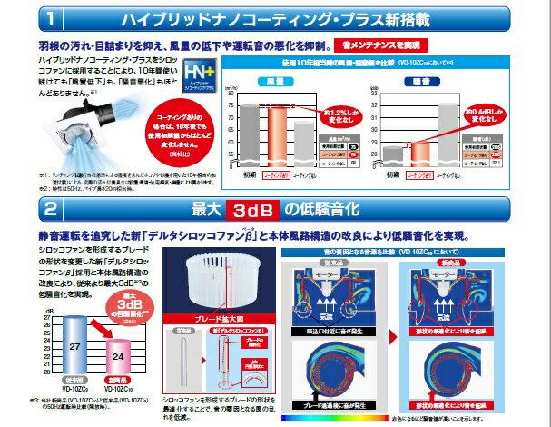 あす楽 VD-15ZFC10 2部屋用 換気扇...の紹介画像3