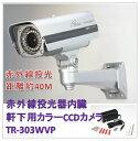 (今なら送料無料!!)赤外線投光器内臓(軒下用)カラーCCDカメラ(TR-303WVP)