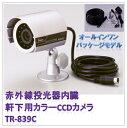 (今なら送料無料!!)赤外線投光器内臓(軒下用)カラーCCDカメラ(TR-839C)