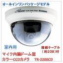 (今なら送料無料!!)マイク内臓ドーム型カラーCCDカメラ(TR-2200CD)