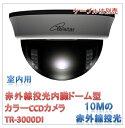 (今なら送料無料!!)赤外線投光器内臓ドーム型カラーCCDカメラ(TR-3000DI)