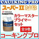 【全9色】ハマタイト 変成シリコン系 スーパーII NB4L×2缶 + カラーマスター(155g×2袋)+プライマー(No.40:500g×1缶)セット