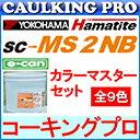 【全9色】ハマタイト 変成シリコーン系 SC-MS 2 NB(旧名:スーパーII) e-can(把っ手は別売り)4リットルセット×2 / ケース カラーマスター155g×2袋セット