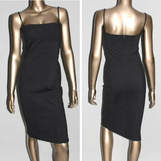 22090 090 DSQUARED2 one piece black 72CT0683 bustier dress Lady's