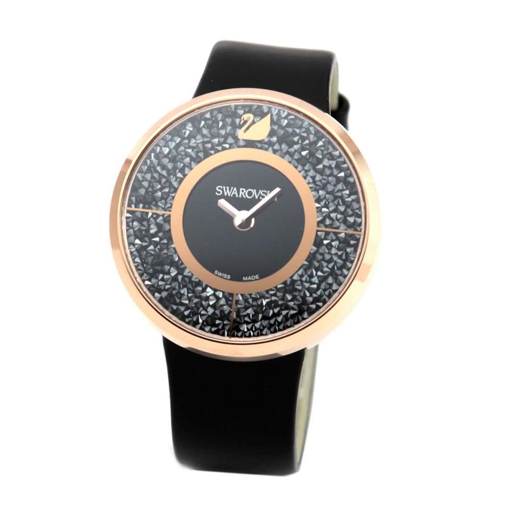 スワロフスキー SWAROVSKI 5045371 レディース 腕時計 Crystalline Black Rose Gold Tone (クリスタルライン)【r】【新品・未使用・正規品】 【送料無料】2017