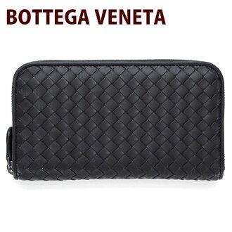 Bottega Veneta (Bottega Veneta) 114076 wallet BOTTEGA VENETA leather leather mens Womens ladies zip around wallet black (black) V001N1000