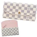 ルイヴィトン LOUIS VUITTON 財布 長財布 レディース 二つ折り ポルトフォイユ・エミリー ダミエ・アズール N41625