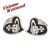 ヴィヴィアンウエストウッド Vivienne Westwood ピアス ハート アクセサリー ブラック BE638/7
