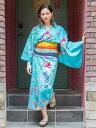 【SALE】チャイハネ 公式 《海紅型アミナナ浴衣》 エスニック アジアン ファッション 浴衣/甚平/作務衣 IAC-9217