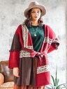 ショッピングアウター 【SALE】チャイハネ 公式 《フォークレカーデ》 エスニック アジアン ファッション アウター/羽織り CWJ-9305