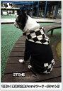 【生地再々入荷・犬服オリジナル】普段着に!クロ地袖・白黒チェックのフード・ポケット付 #犬服通販 #ボストンテリア #フレンチブルドッグ #パグ #ペチャ #小型犬 #トイプードル #チワワ #ヨーキー #マルチーズ