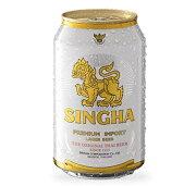 【ケース販売】【送料無料】 シンハー ラガービール (缶)(330ml×24本)
