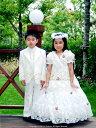 『白の子供用スーツ・5点セット≪BY-007-B≫(大サイズ...