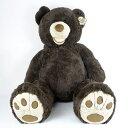 558811 : 【送料無料】超大型♪癒しのテディベア (ダークブラウン) HUGFUN コストコ・クマのぬいぐるみ 53インチ 135cm