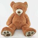 558811 : 【送料無料】超大型♪癒しのテディベア(新色・レディッシュブラウン) HUGFUN クマのぬいぐるみ 53インチ135cm