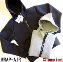 ショッピングチャンピオン SALE!チャンピオン Champion ワープエアー ジップパーカー ジップフードジャケット WRAP-AIR ZIP PARKA/C3-QS107/M・L・XL/グレー・ブラック