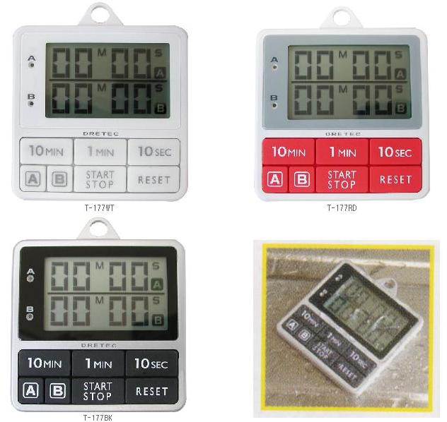 BK missing in cod is usually the shipping DRETEC ( ドリテック ) double timer T-177WTT-177BKT-177RD / timer / kitchen timer / kitchen / / countdown / featured / gift / convenience goods