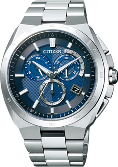 !! Citizen watch ATTESA アテッサ Eco-Drive Eco drive radio time signal chronograph AT3010-55L men