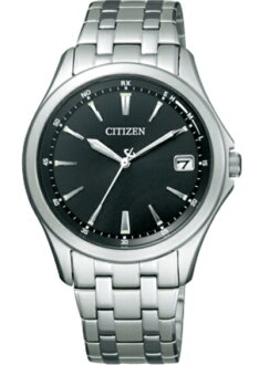 !! Citizen citizen FORMA form Eco-Drive radio time signal Perfex deployment standard model FRD59-2552 men
