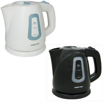 "New product DRETEC (doh re-technical center) electricity kettle ""Ceylon"" black new sale! PO-108BL, PO108BK"