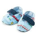 ベビーシューズ 超特急ドリームエクスプレス(ライトブルー)【ファーストシューズ ルームシューズ ベビー靴】(赤ちゃん ベビー 出産祝い男の子)