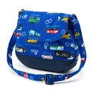 ベビーショルダーバッグ アクセル全開はたらく車(ロイヤルブルー) (お出かけ 赤ちゃん 外出 バッグ おでかけバック ベビーポシェット ななめがけポーチ 赤ちゃん ベビー 新生児 出産祝い ギフト 男の子 はたらく車 )