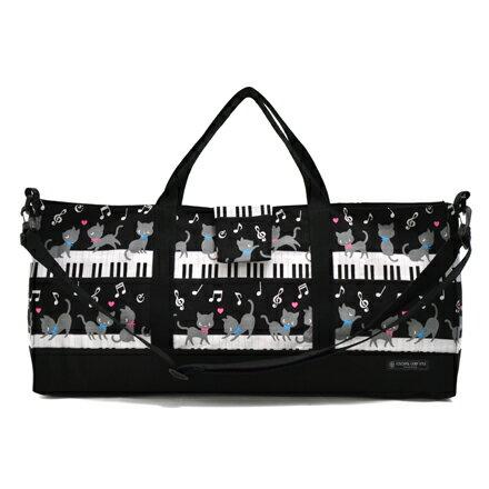 ピアニカケース・鍵盤ハーモニカケースピアノの上で踊る黒猫ワルツ(ブラック)(ピアニカケース鍵盤ハーモ