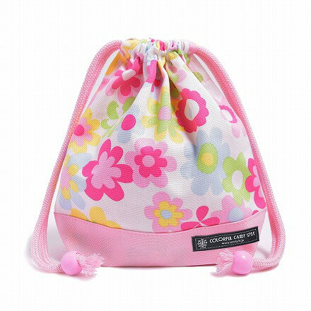 巾着袋子供用小コップ入れコップ袋巾着コップ入れ巾着袋小保育園コップ袋幼稚園入園準備フラワー・ライトホ