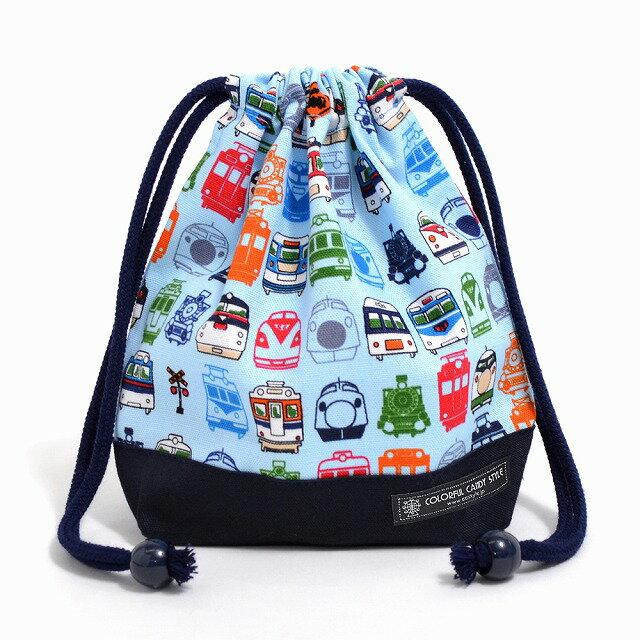 巾着袋子供用小コップ入れコップ袋巾着コップ入れ巾着袋小保育園コップ袋幼稚園入園準備ぼくの街の機関車・