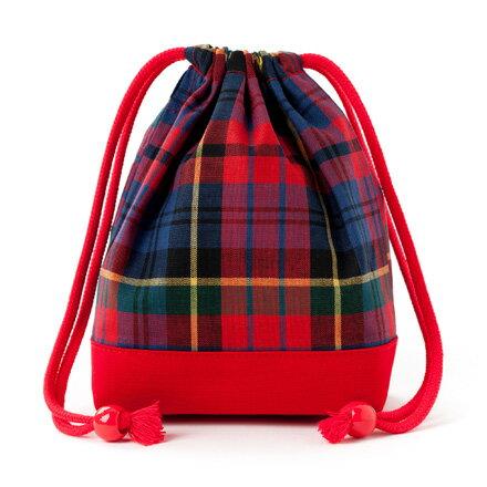 巾着袋子供用小コップ入れコップ袋巾着コップ入れ巾着袋小保育園コップ袋幼稚園入園準備タータンチェック・