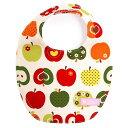 ショッピングエプロン スタイ 丸型タイプ おしゃれリンゴのひみつ(アイボリー) (ビブ よだれかけ 大きめ よだれカバー エプロン お食事 前掛け 赤ちゃん ベビー 出産祝い ギフト 女の子 アップル)
